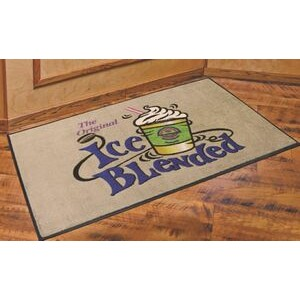 3'x5' DigiPrint™ Nylon Indoor Carpeted Logo Mat w/ Rubber Backing